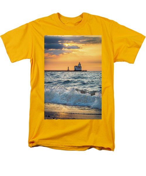 Men's T-Shirt  (Regular Fit) featuring the photograph Morning Dance On The Beach by Bill Pevlor