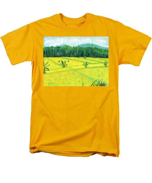 Men's T-Shirt  (Regular Fit) featuring the painting On The Way To Ubud II Bali Indonesia by Melly Terpening