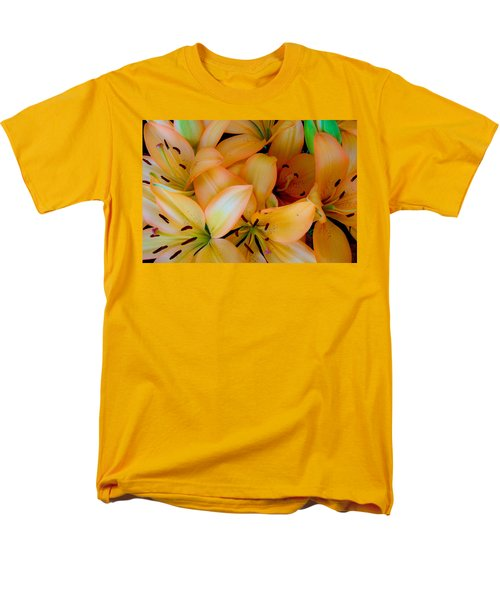 Orange Lilies Men's T-Shirt  (Regular Fit) by Mark Barclay