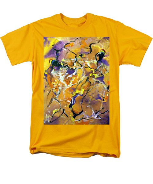 Men's T-Shirt  (Regular Fit) featuring the painting Praise Dance by Raymond Doward