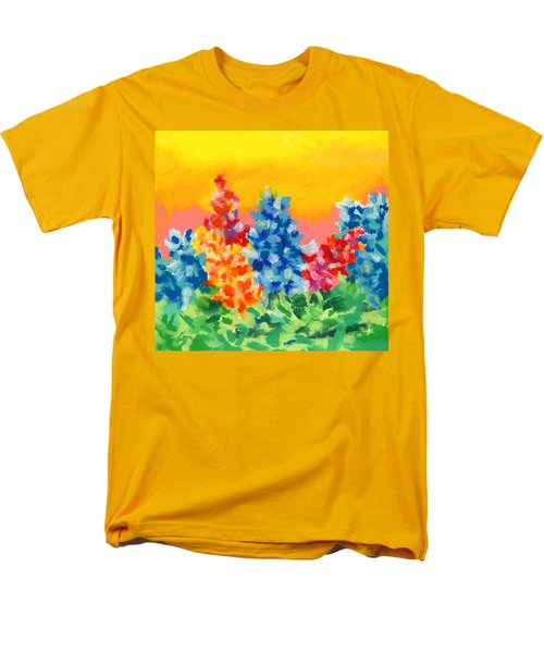 Men's T-Shirt  (Regular Fit) featuring the painting Spring Wildflowers by Stephen Anderson