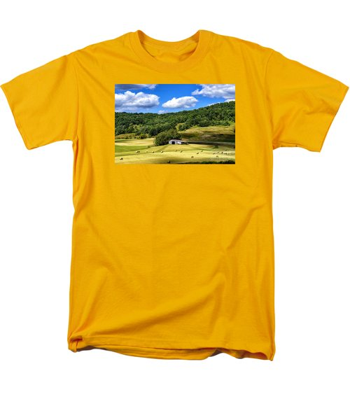 Summer Morning Hay Field Men's T-Shirt  (Regular Fit) by Thomas R Fletcher