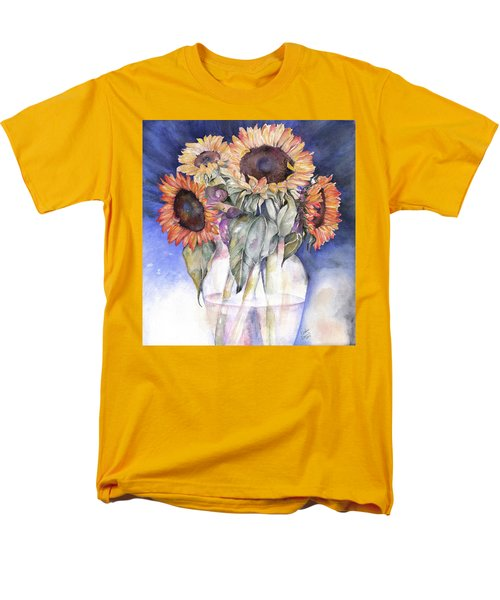 Men's T-Shirt  (Regular Fit) featuring the painting Sunflowers by Nadine Dennis