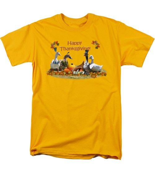 Thanksgiving Ducks Men's T-Shirt  (Regular Fit)