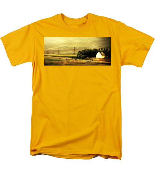 Men's T-Shirt  (Regular Fit) featuring the photograph Wind Turbines by Julie Hamilton