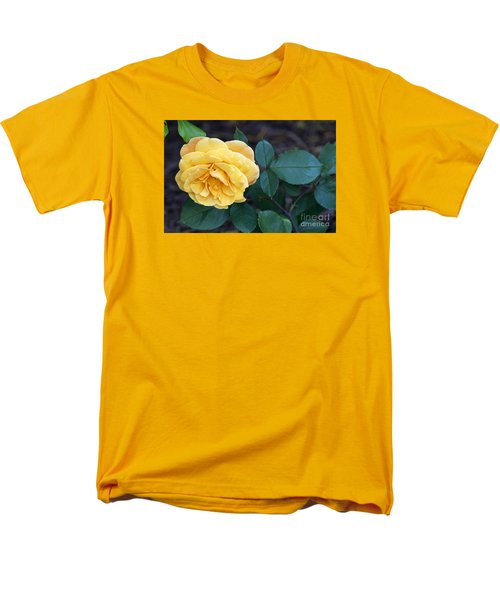 Yellow Rose Men's T-Shirt  (Regular Fit) by Debra Crank