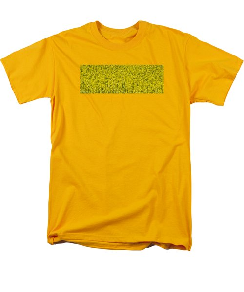 Yellow Men's T-Shirt  (Regular Fit) by Wanda Krack
