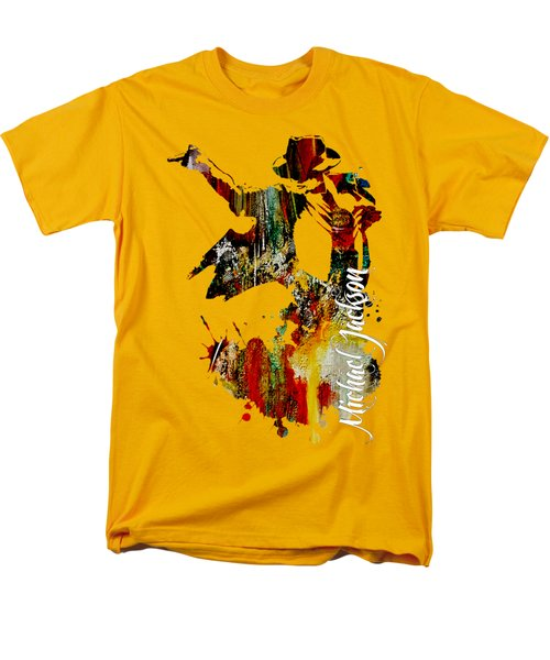 Michael Jackson Collection Men's T-Shirt  (Regular Fit) by Marvin Blaine