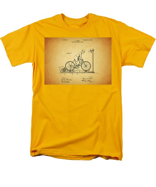 1900 Bicycle Exercise Stand Men's T-Shirt  (Regular Fit) by Dan Sproul