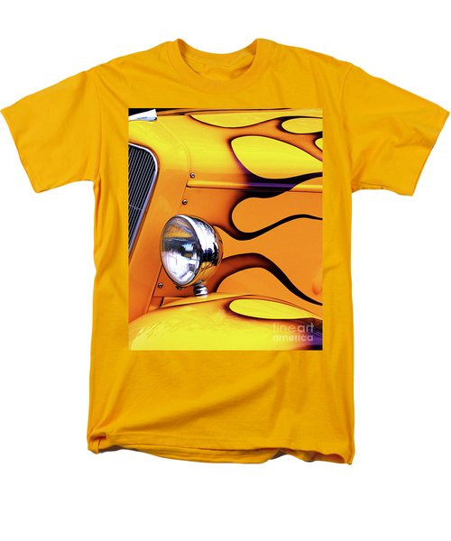 Men's T-Shirt  (Regular Fit) featuring the photograph 1934 Ford Custom Yellow Hot Rod by Baggieoldboy