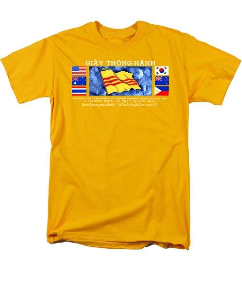 1968 Vietnam War Safe Conduct Pass Men's T-Shirt  (Regular Fit) by Historic Image