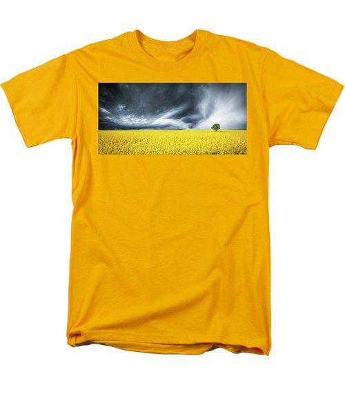 Men's T-Shirt  (Regular Fit) featuring the photograph Canola Field by Bess Hamiti