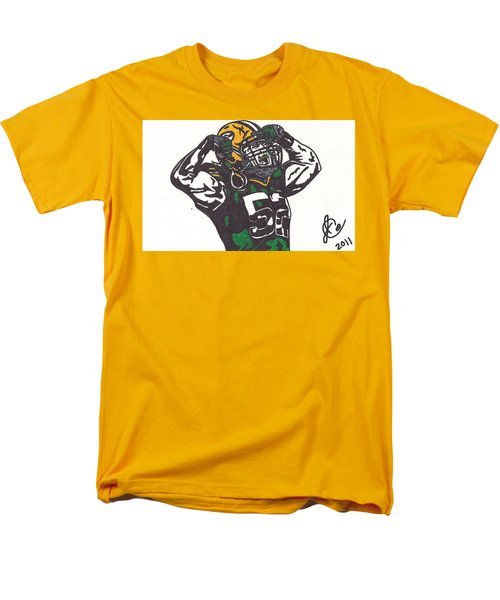 Men's T-Shirt  (Regular Fit) featuring the drawing Clay Matthews 2 by Jeremiah Colley
