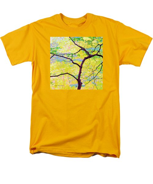Men's T-Shirt  (Regular Fit) featuring the digital art Dogwood Tree In Spring by A Gurmankin