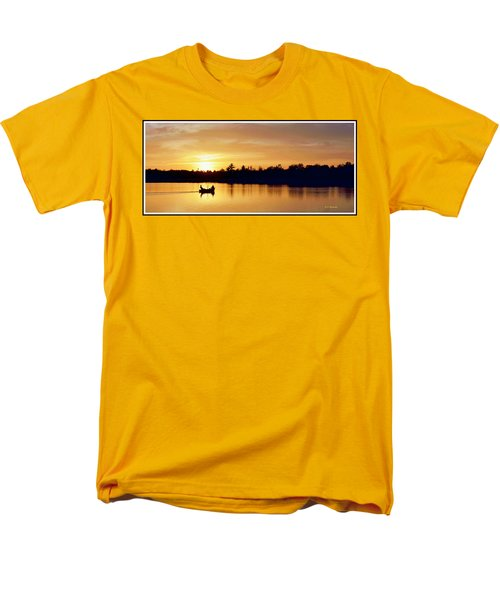 Fishermen On A Lake At Sunset Men's T-Shirt  (Regular Fit) by A Gurmankin