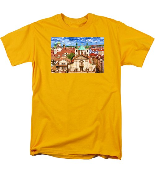 Men's T-Shirt  (Regular Fit) featuring the photograph Old Town Prague by Dennis Cox WorldViews