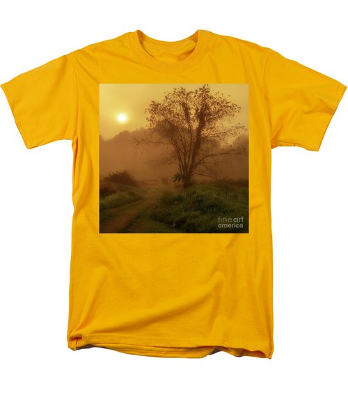 Misty Mountain Sunrise Men's T-Shirt  (Regular Fit) by Thomas R Fletcher