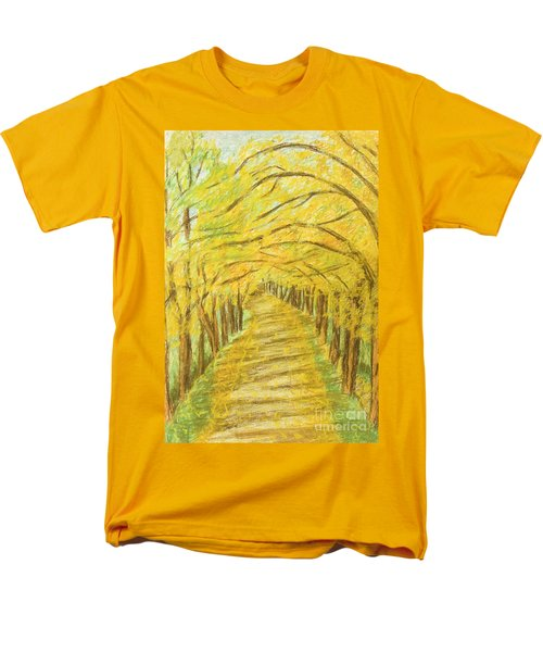 Autumn Landscape, Painting Men's T-Shirt  (Regular Fit) by Irina Afonskaya