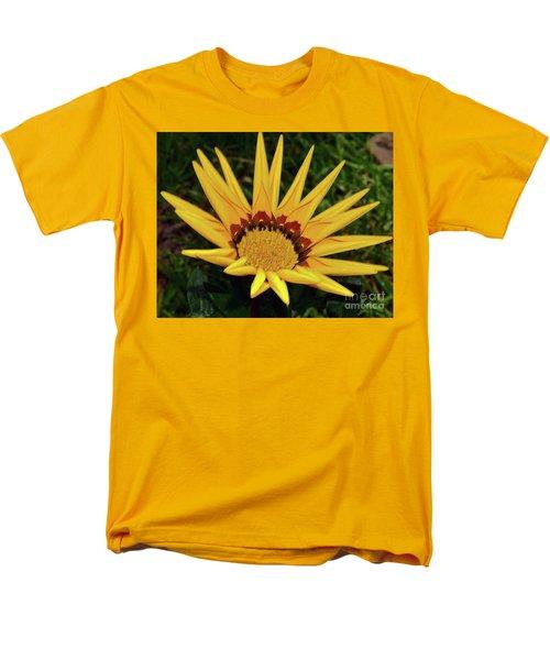 Men's T-Shirt  (Regular Fit) featuring the photograph Yellow Gazania by Elvira Ladocki
