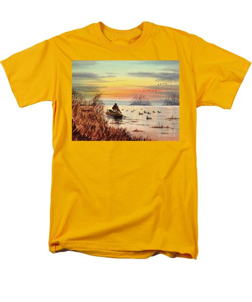 A Great Day For Duck Hunting Men's T-Shirt  (Regular Fit) by Bill Holkham