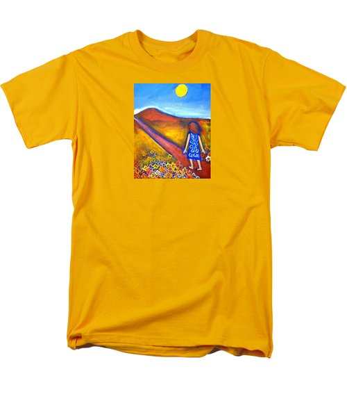 Men's T-Shirt  (Regular Fit) featuring the painting A Sunny Path by Winsome Gunning