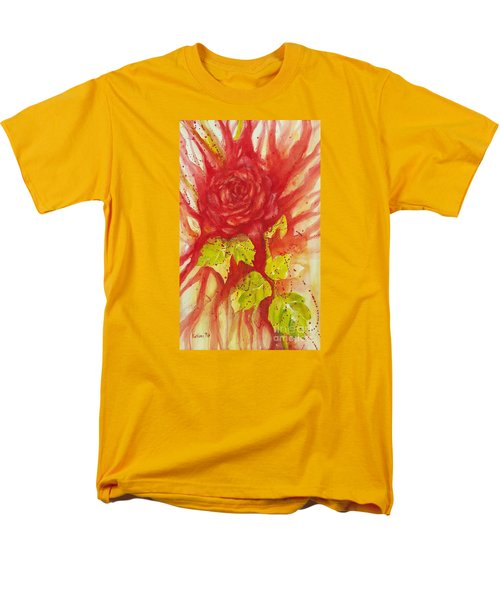 A Wounded Rose Men's T-Shirt  (Regular Fit) by Kathleen Pio
