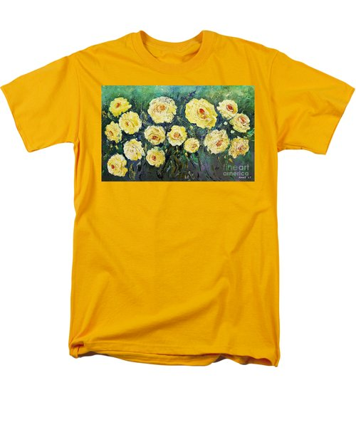 All Yellow Roses Men's T-Shirt  (Regular Fit)