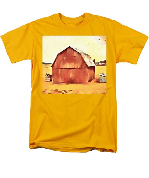 Men's T-Shirt  (Regular Fit) featuring the painting American Gothic Red Barn by Dan Sproul
