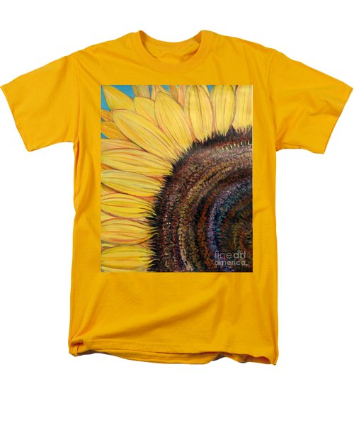 Men's T-Shirt  (Regular Fit) featuring the painting Anatomy Of A Sunflower by Ecinja Art Works