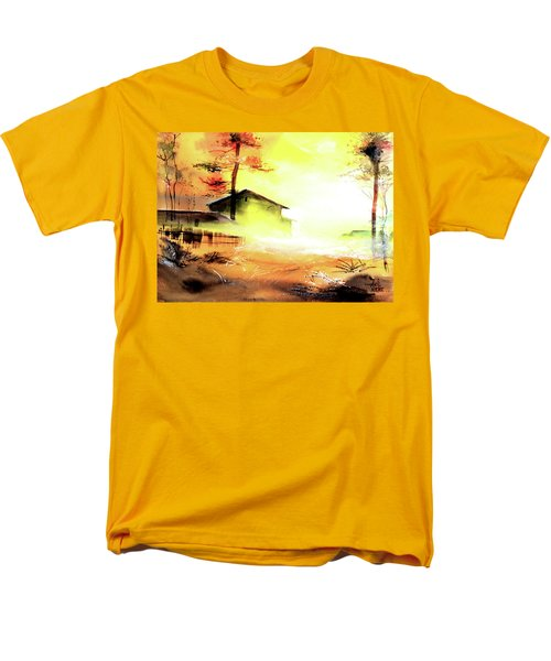 Men's T-Shirt  (Regular Fit) featuring the painting Another Good Morning by Anil Nene