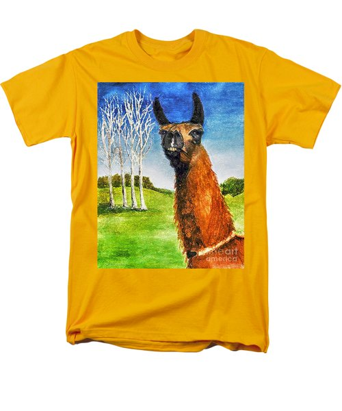 Men's T-Shirt  (Regular Fit) featuring the painting Archimedes by Polly Peacock