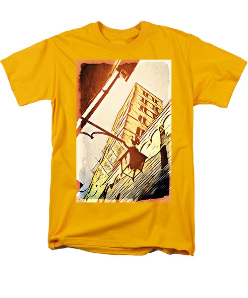 Men's T-Shirt  (Regular Fit) featuring the digital art Arezzo's Tower by Andrea Barbieri
