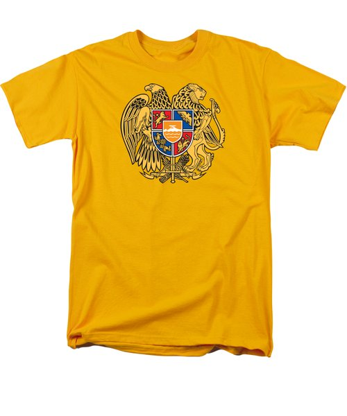 Men's T-Shirt  (Regular Fit) featuring the drawing Armenia Coat Of Arms by Movie Poster Prints