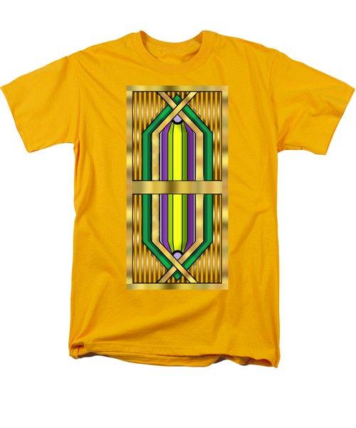 Men's T-Shirt  (Regular Fit) featuring the digital art Art Deco 14 Vertical - Chuck Staley by Chuck Staley