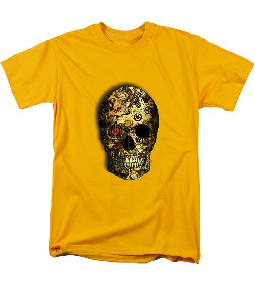 Men's T-Shirt  (Regular Fit) featuring the digital art Skullgear by Iowan Stone-Flowers