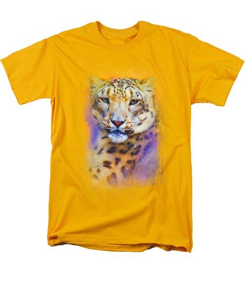 Colorful Expressions Snow Leopard Men's T-Shirt  (Regular Fit) by Jai Johnson