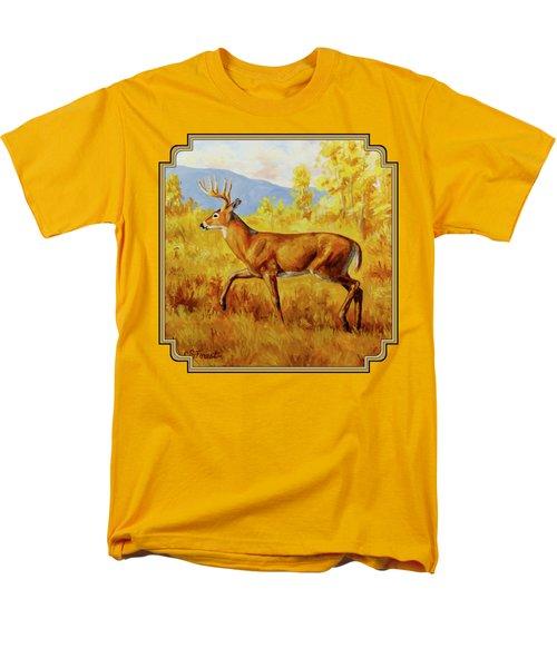 Whitetail Deer In Aspen Woods Men's T-Shirt  (Regular Fit) by Crista Forest