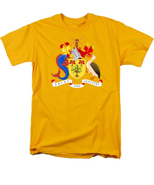 Men's T-Shirt  (Regular Fit) featuring the drawing Barbados Coat Of Arms by Movie Poster Prints