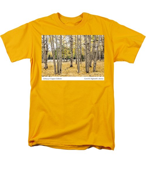 Men's T-Shirt  (Regular Fit) featuring the photograph Aspens In Conejos County In Colorado, Near The New Mexico Border by Carol M Highsmith