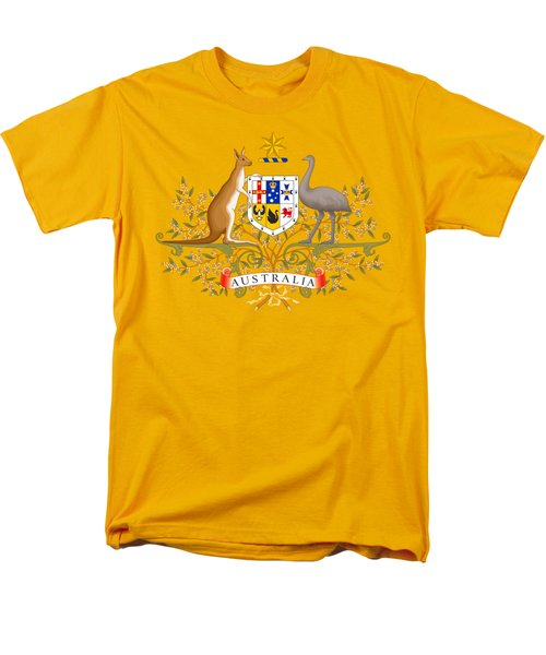 Men's T-Shirt  (Regular Fit) featuring the drawing Australia Coat Of Arms by Movie Poster Prints
