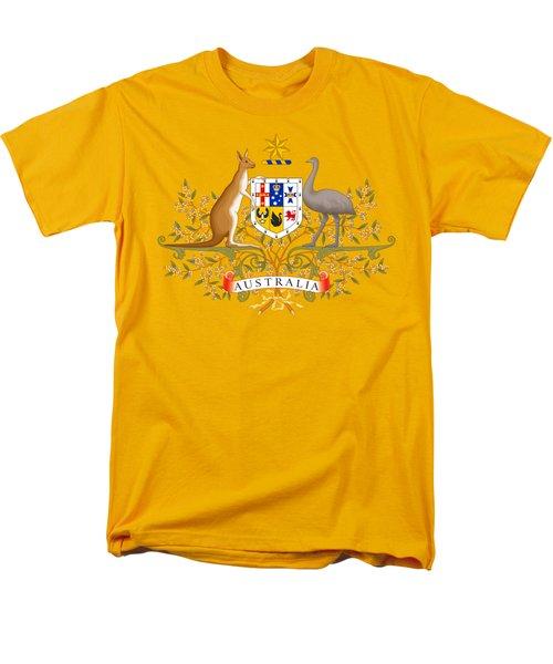 Australia Coat Of Arms Men's T-Shirt  (Regular Fit) by Movie Poster Prints
