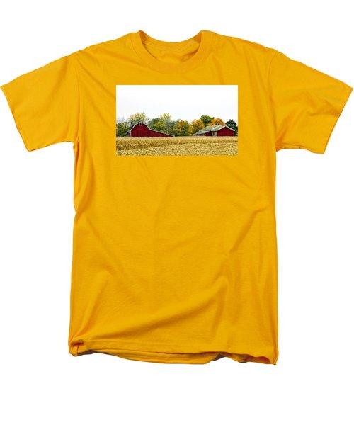 Autumn Barns Men's T-Shirt  (Regular Fit) by Pat Cook