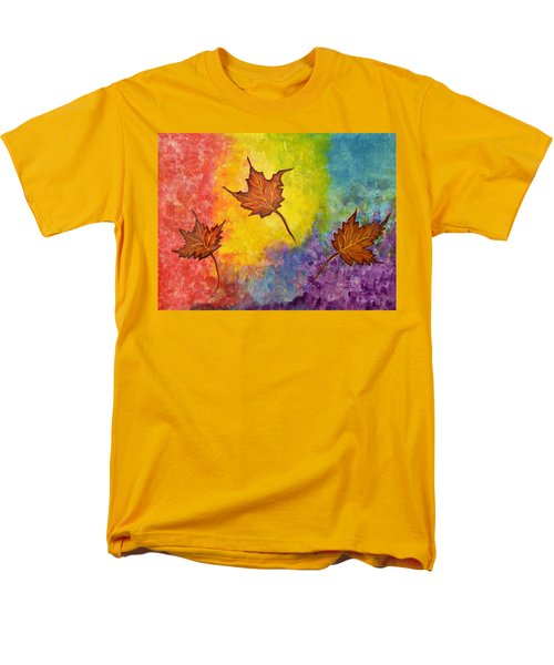 Autumn Bliss Colorful Abstract Painting Men's T-Shirt  (Regular Fit)