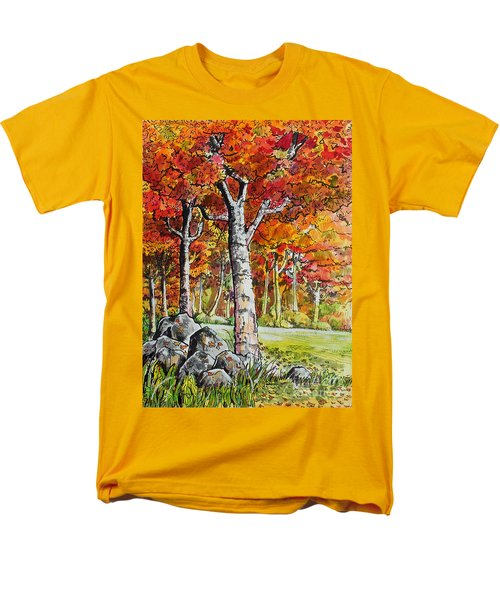 Men's T-Shirt  (Regular Fit) featuring the painting Autumn Bloom by Terry Banderas
