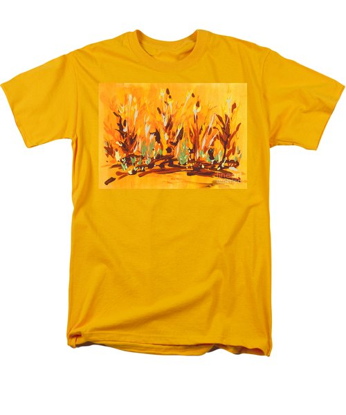 Men's T-Shirt  (Regular Fit) featuring the painting Autumn Garden by Holly Carmichael