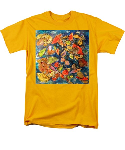 Autumn Leaves Men's T-Shirt  (Regular Fit) by Barbara O'Toole