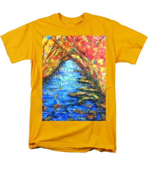 Autumn Reflections 2 Men's T-Shirt  (Regular Fit) by Rae Chichilnitsky