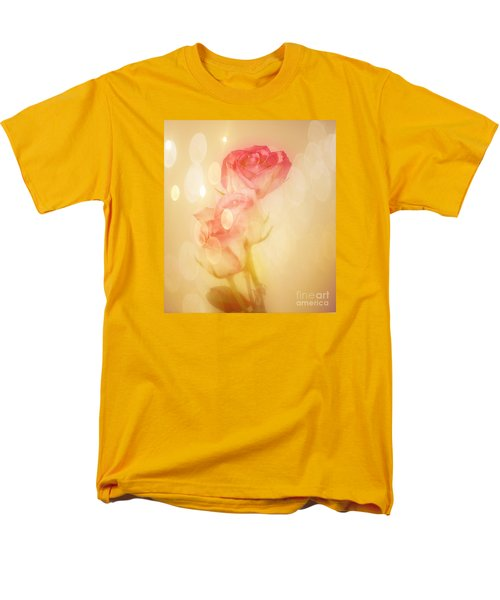 Men's T-Shirt  (Regular Fit) featuring the photograph Autumn Roses by Shirley Mangini