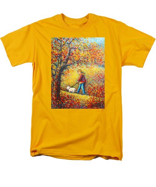 Men's T-Shirt  (Regular Fit) featuring the painting Autumn Walk  by Natalie Holland