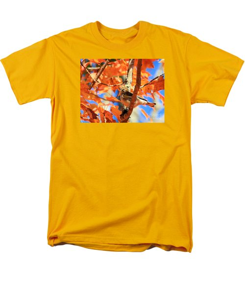 Men's T-Shirt  (Regular Fit) featuring the photograph Autumn Warbler by Debbie Stahre